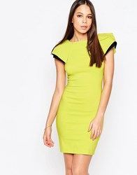 Vesper Logan Cap Sleeve Pencil Dress Green