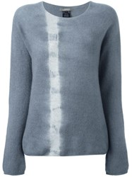 Suzusan Tie Dye Stripe Jumper Grey