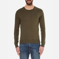 Polo Ralph Lauren Men's Crew Neck Pima Cotton Knitted Jumper New Olive Green