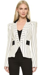 Thierry Mugler Striped Blazer Black Off White