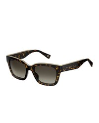 Marc Jacobs Twist Square Sunglasses Dark Havana Dark Brown