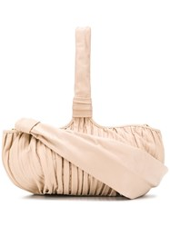 Max Mara Ruched Shoulder Bag Neutrals