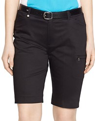 Lauren Ralph Lauren Stretch Cotton Golf Shorts Black