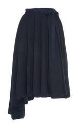 Dice Kayek Apron Asymmetrical Skirt Black