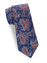 Saks Fifth Avenue Paisley Silk Tie Red