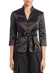 Adrianna Papell Satin Belted Jacket Black