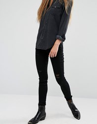 Rock And Religion Neve Ripped Skinny Jeans Black