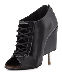Nissa Lace Up Screw Heel Bootie Black Givenchy