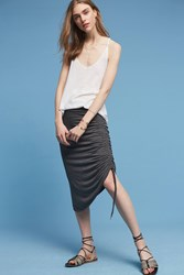 Anthropologie Rylee Knit Skirt Dark Grey