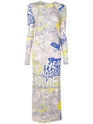 Rachel Comey Printed Graffiti Dress Pink
