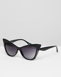 Jeepers Peepers Novelty Cat Eye Sunglasses Black
