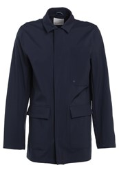 Knowledge Cotton Apparel Big Pocket Short Coat Total Eclipse Dark Blue