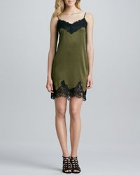 Gryphon Lace Trim Slip Dress Military Black