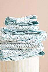 Anthropologie Chevron Towel Collection Turquoise