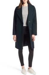Kendall Kylie Drop Shoulder Midi Coat Jade