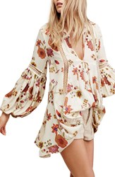 Free People Women's Just The Two Of Us Floral Tunic Ivory