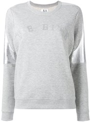 Zoe Karssen Metallic Detail Sweatshirt Grey