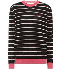 Etre Cecile Frenchie Striped Wool Blend Sweater Blue