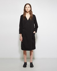 Zucca Cotton Coat Dress Black