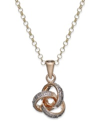 Victoria Townsend 18K Gold Over Sterling Silver Necklace Diamond Accent Love Knot Pendant