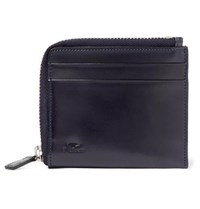 Il Bussetto Polished Leather Zip Around Wallet Navy