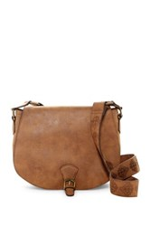 T Shirt And Jeans Buckle Crossbody Brown