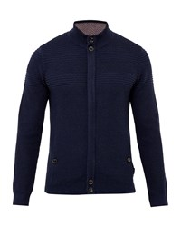 Ted Baker Dalle Funnel Neck Cardigan Navy