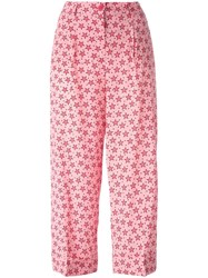 P.A.R.O.S.H. Sting Star Print Trousers Pink Purple