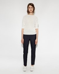 Margaret Howell Midi Waist Cropped Pant Dark Navy