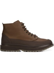 Brunello Cucinelli Lace Up Boots Brown