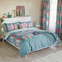 Sanderson Hollyhocks Duvet Cover Super King