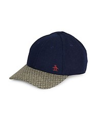 Penguin Shane Wool Blend Baseball Cap Navy