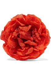 Gucci Floral Silk Brooch Bright Orange