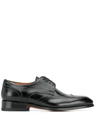 Santoni Oxford Carter Lace Up Shoes Black