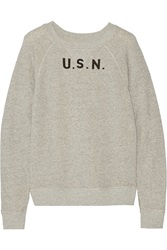 Nlst Raglan Usn Cotton Sweatshirt Gray
