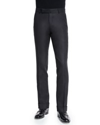 Tom Ford Buckley Base Twill Melange Trousers Black