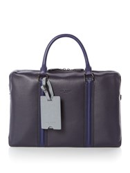 Ted Baker Jaws Leather Document Bag Navy