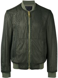 Les Hommes Classic Bomber Jacket Green