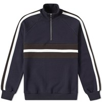 Harmony Sofian Half Zip Sweat Blue