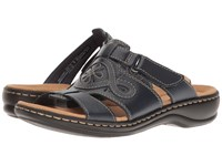 Clarks Leisa Higley Navy Leather Women's Sandals Blue