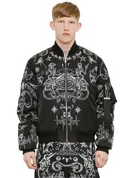Givenchy Printed Reversible Nylon Bomber Jacket