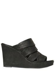 The Last Conspiracy 80Mm Kadlin Horse Leather Wedges Black