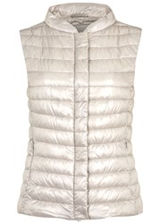 Herno Pearl Quilted Shell Gilet Silver