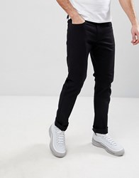 Armani Exchange J13 Slim Fit 5 Pocket Stretch Jeans In Black