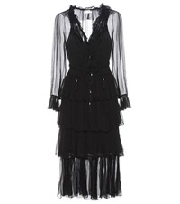 Zimmermann Winsom Crinkle Georgette Dress Black