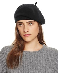 Bloomingdale's C By Cashmere Angelina Beret Black