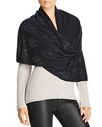 Magaschoni Embellished Cashmere Scarf Midnight