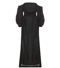 Lisa Marie Fernandez Rosie Linen Dress Black