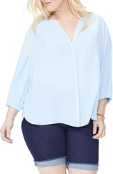 Nydj Plus Size Women's High Low Blouse Tranquility