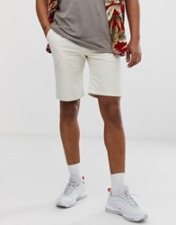 New Look Chino Shorts In Stone